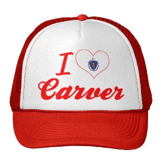 I Love Carver, Massachusetts Trucker Hat