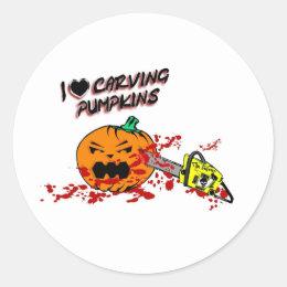 I Love Carving Pumpkins Classic Round Sticker