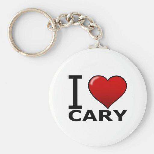 I LOVE CARY, NC - NORTH CAROLINA KEYCHAINS