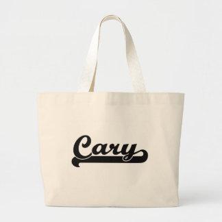 I love Cary North Carolina Classic Design Jumbo Tote Bag