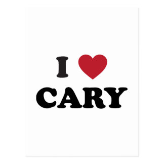 I Love Cary North Carolina Postcard