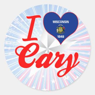 I Love Cary, Wisconsin Classic Round Sticker