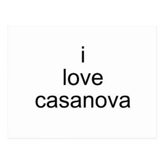 i love casanova postcard