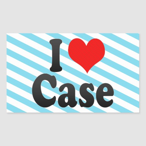I love Case Rectangle Stickers