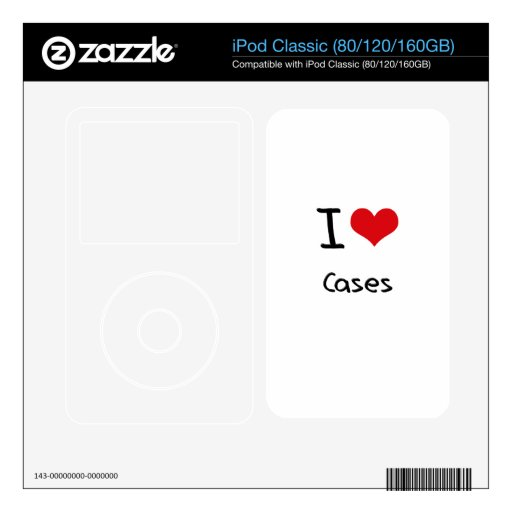 I love Cases iPod Classic Decal