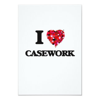 I love Casework 3.5x5 Paper Invitation Card