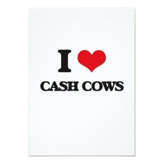 """I love Cash Cows 5"""" X 7"""" Invitation Card"""
