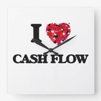 I love Cash Flow Square Wall Clock