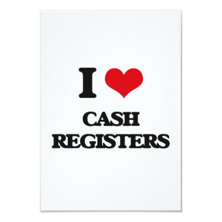 I love Cash Registers Customized Announcement Cards