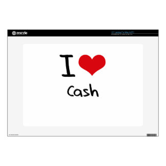 I love Cash Laptop Decal
