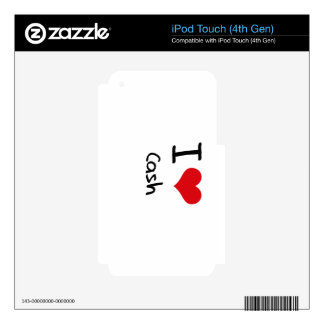 I love Cash iPod Touch 4G Decals