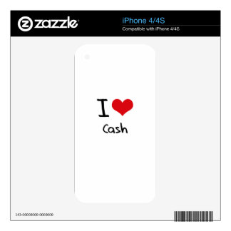 I love Cash Decal For iPhone 4S