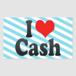I love Cash Sticker