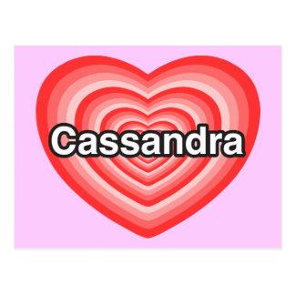 I love Cassandra I love you Cassandra Heart Post Card