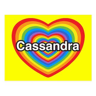 I love Cassandra I love you Cassandra Heart Post Cards