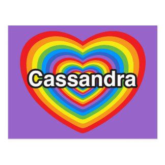 I love Cassandra I love you Cassandra Heart Postcards