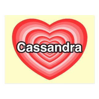I love Cassandra I love you Cassandra Heart Postcard