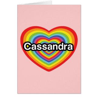 I love Cassandra rainbow heart Greeting Card