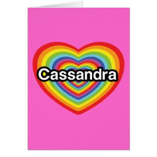 I love Cassandra rainbow heart Cards