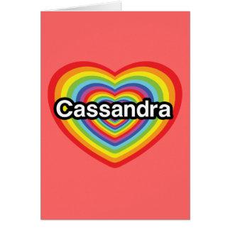 I love Cassandra rainbow heart Greeting Cards
