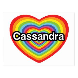 I love Cassandra rainbow heart Post Card