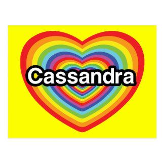 I love Cassandra rainbow heart Post Cards