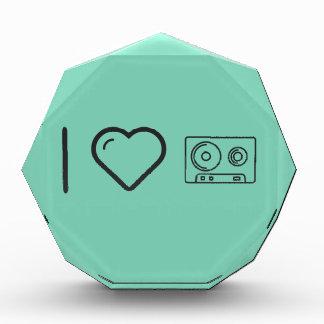 I Love Cassette Tapes Acrylic Award