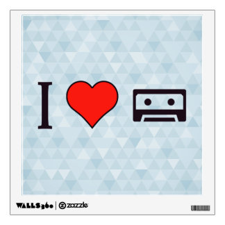 I Love Cassette Tapes Wall Decal