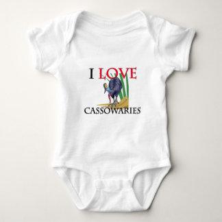 I Love Cassowaries Baby Bodysuit