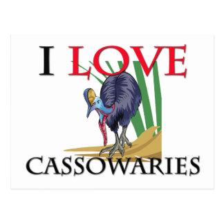 I Love Cassowaries Postcards