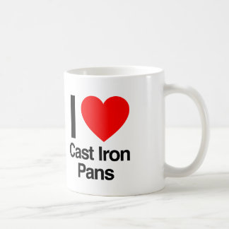 i love cast iron pans coffee mug