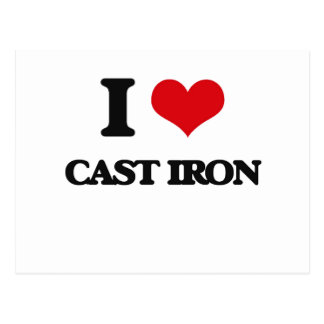 I love Cast-Iron Postcard