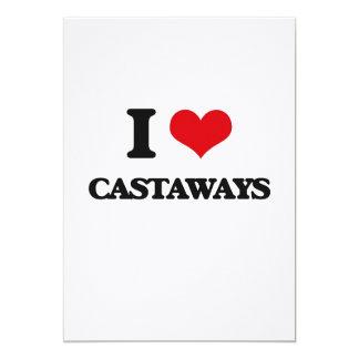 I love Castaways 5x7 Paper Invitation Card