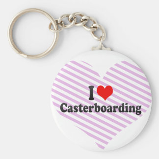 I love Casterboarding Keychain