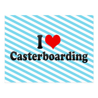 I love Casterboarding Postcard
