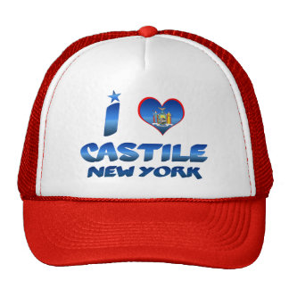 I love Castile, New York Hats