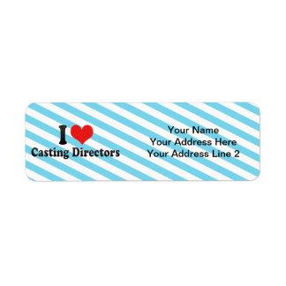 I Love Casting Directors Custom Return Address Label