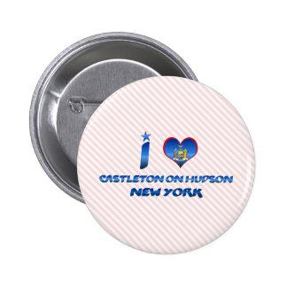 I love Castleton on Hudson, New York Button