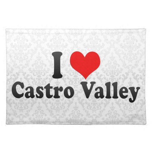 I Love Castro Valley, United States Cloth Placemat