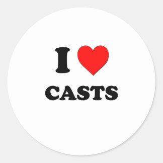 I love Casts Classic Round Sticker