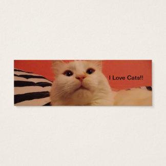 I love cat Bookmarks Mini Business Card