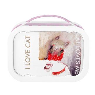 I love cat - cat loves me yubo lunchbox