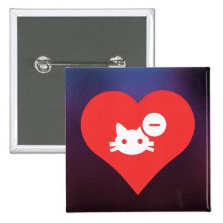 I Love Cat Doors Design 2 Inch Square Button