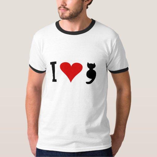 I Love Cat T Shirts