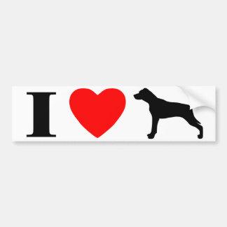 I Love Catahoula Leopard Dogs Bumper Sticker Car Bumper Sticker