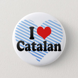 I Love Catalan Pinback Button