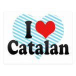 I Love Catalan Postcard
