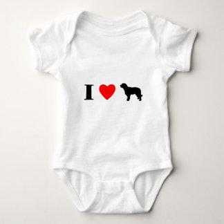 I Love Catalan Sheepdogs Baby Creeper