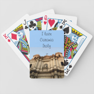 I Love Catania Italy Bicycle Playing Cards