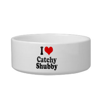 I love Catchy Shubby Cat Food Bowl